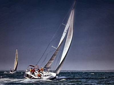 Photograph - Racing To Nantucket by Bruce Gannon