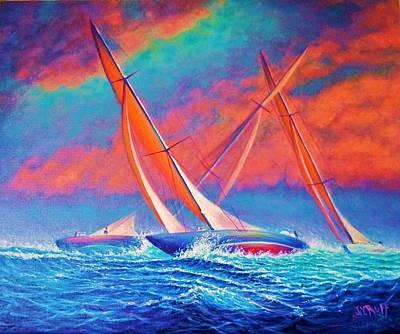 Racing Wedge Art Print by Joseph   Ruff