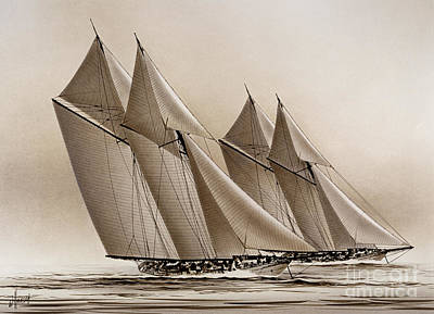 Racing Yachts Print by James Williamson