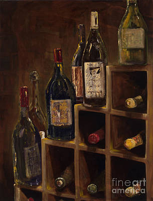 Rack Of Wine Original by Jodi Monahan