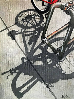 Painting - Racked Up - Bicycle Painting by Linda Apple