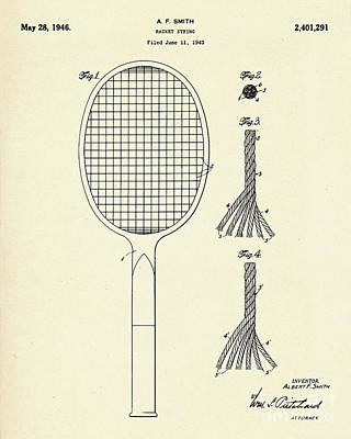 Racket Painting - Racket String-1946 by Pablo Romero