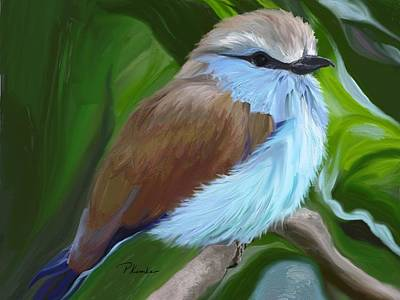 Digital Art - Racket-tailed Roller by Patricia Kemke