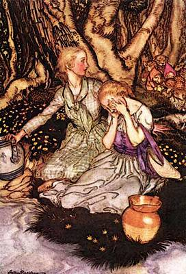Rackham Arthur Goblin Market Down The Glen Tramp Little Men Art Print