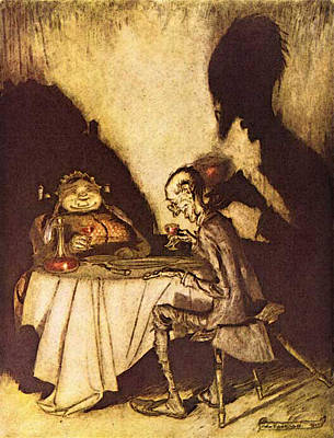 Jack Sprat Digital Art - Rackham Arthur Mother Goose Jack Sprat And His Wife by Arthur Rackham