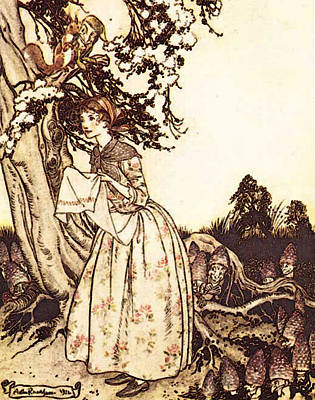 Mother Goose Digital Art - Rackham Arthur Mother Goose The Fair Maid Who The First Of Spring by Arthur Rackham