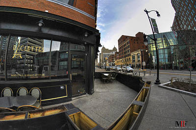 Photograph - Raclettes Main Street Buffalo by Michael Frank Jr