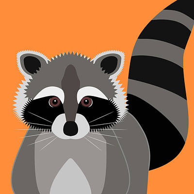Raccoon Digital Art - Raccoon Mischief by Antique Images