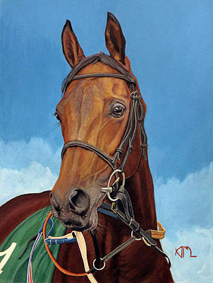 Painting - Radamez - Arabian Race Horse by Antonio Marchese