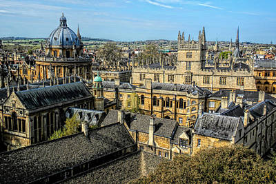 Photograph - Radcliffe Camera And Bodleian Library Oxford by Nigel Fletcher-Jones