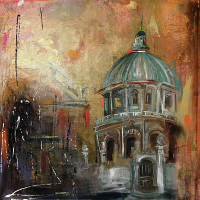 Dome Painting - Radcliffe Camera Oxford City 195 1 by Mawra Tahreem