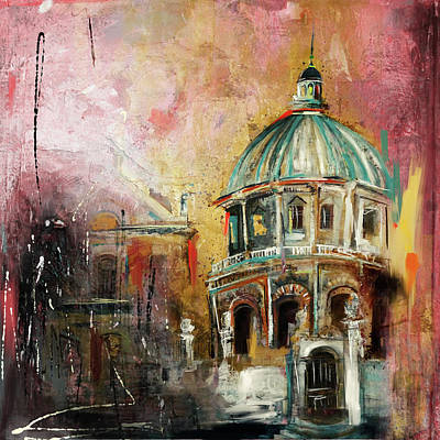 Dome Painting - Radcliffe Camera Oxford City 195 2 by Mawra Tahreem