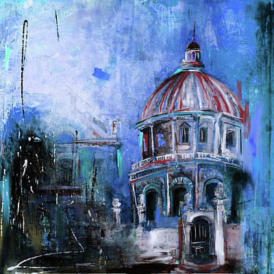 Dome Painting - Radcliffe Camera, Oxford City 195 3 by Mawra Tahreem