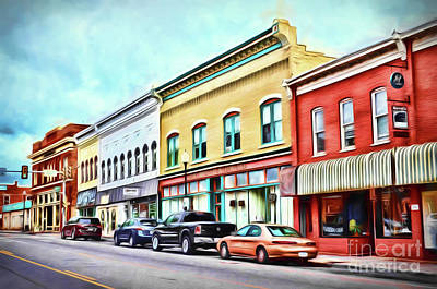 Photograph - Radford Virginia - Along Main Street by Kerri Farley