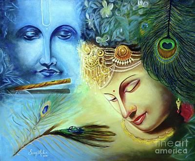 Radha Krishna Love Paintings Fine Art America