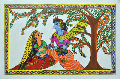 Painting - Radha Krishna  by Shruti Prasad