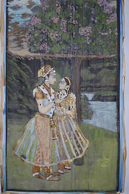 Painting - Radha Krishna by Vikram Singh