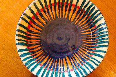 Ceramic Art - Radial Burst Bowl by Polly Castor