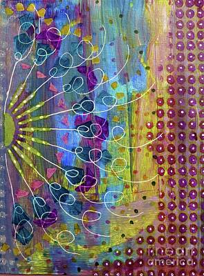 Mixed Media - Radial by Desiree Paquette