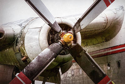 Print featuring the photograph Radial Engine And Prop - Fairchild C-119 Flying Boxcar by Gary Heller