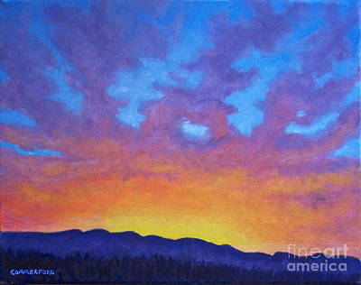 Rays Painting - Radiance by Brian  Commerford