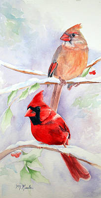 Painting - Radiance Of Cardinals by Marsha Karle