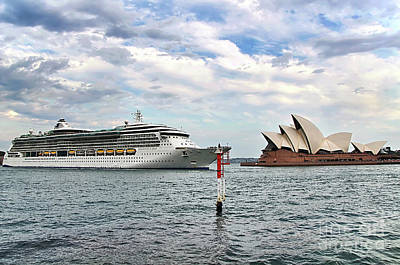 Photograph - Radiance Of The Seas Passing Opera House by Kaye Menner