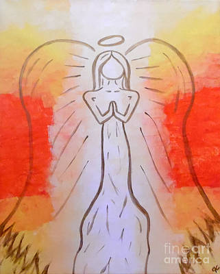 Radiant Angel Original by Jilian Cramb - AMothersFineArt