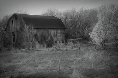 Photograph - Radiant Black And White Rustic Barn by Aimee L Maher ALM GALLERY