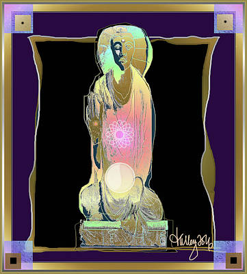 Digital Art - Radiant Buddha by Larry Talley
