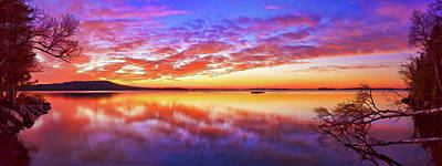 Digitally Manipulated Photograph - Radiant Dawn At Meddybemps by ABeautifulSky Photography by Bill Caldwell