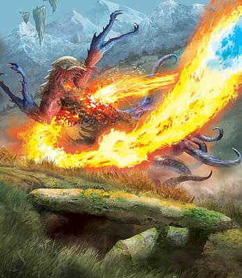 Digital Art - Radiant Flames by Ryan Barger