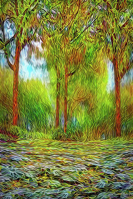 Digital Art - Radiant Forest Meadow by Joel Bruce Wallach