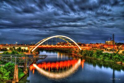 Photograph - Radiant Honor Korean War Veterans Memorial Bridge Nashville Tennessee Art by Reid Callaway