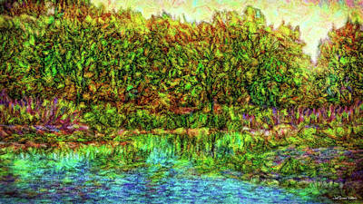 Digital Art - Radiant Lake Moment by Joel Bruce Wallach