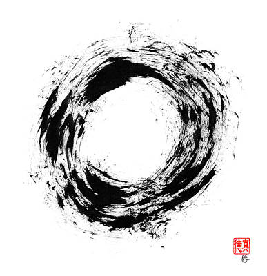 Radiant Light Enso Art Print