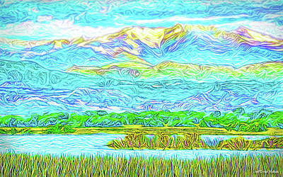 Digital Art - Radiant Mountain Lake - Colorado Front Range Mountains And Mcintosh Lake by Joel Bruce Wallach