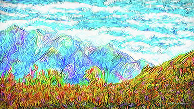 Digital Art - Radiant Mountain Morn by Joel Bruce Wallach