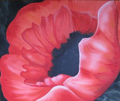 Painting - Radiant Poppy by RJ McNall