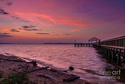 Pier Digital Art - Radiant Sky by Alexander Butler