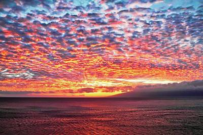 Photograph - Radiant Sunset Over Maui by Kirsten Giving