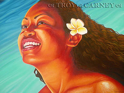 Samoan Painting - Radiant by Troy Carney