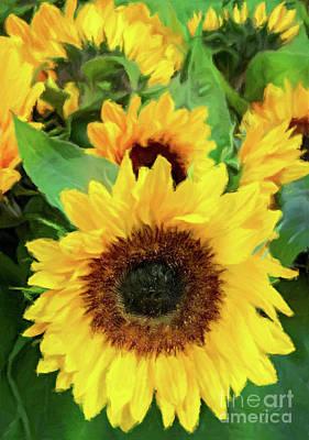 Photograph - Radiantly Beautiful - Sunflowers by Gabriele Pomykaj
