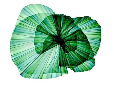 Modern Abstract Mixed Media - Radiate In Green by Philip Openshaw