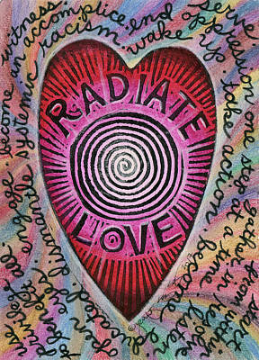 Mixed Media - Radiate Love And... by Jennifer Mazzucco