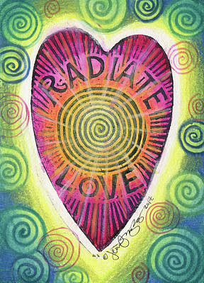 Mixed Media - Radiate Love by Jennifer Mazzucco