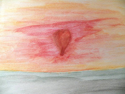 Painting - Radiating Heart by Corinne Elizabeth Cowherd