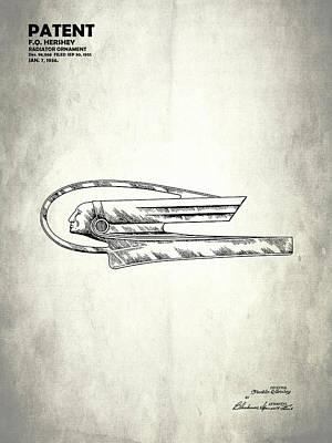 Radiator Cap Photograph - Radiator Ornament Patent 1935 by Mark Rogan