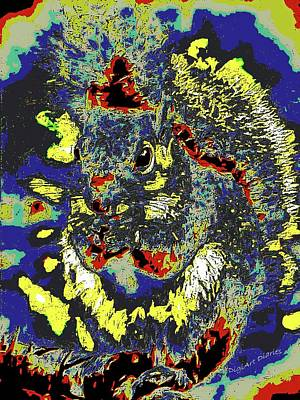 Radical Rodent Art Print by DigiArt Diaries by Vicky B Fuller