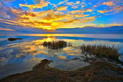 Radical Sunset Over Pamlico Sound Outer Banks Art Print